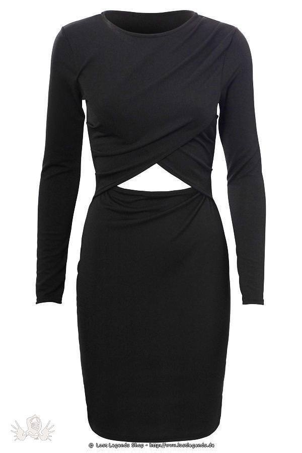 Overlay Cross Gothic Kleid