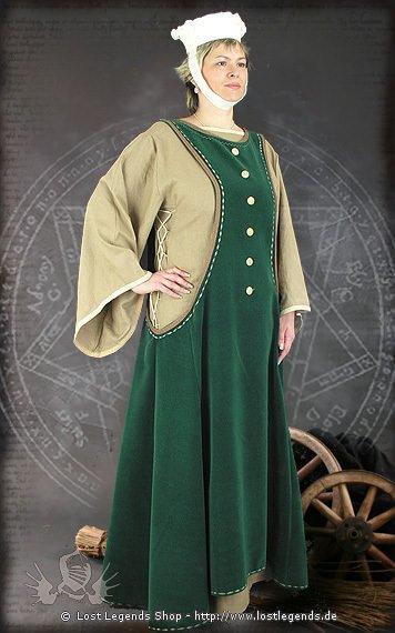 Patrizierin Mittelalter Kleid, Samt