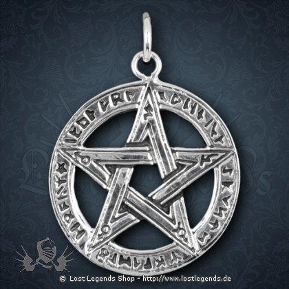 Pentagramm Anhänger mit Runen-Inschrift