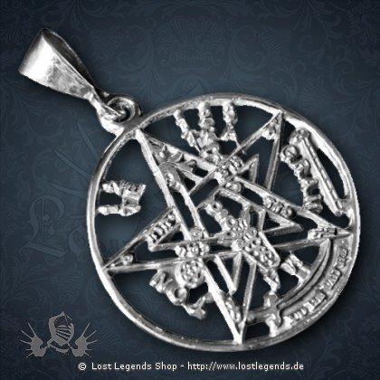 Pentagramm Anhänger Silber