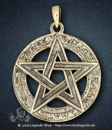 Pentagramm Anhänger Tetragrammaton Bronze