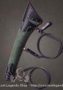 Pfeileköcher Ranger Leder, grün-schwarz