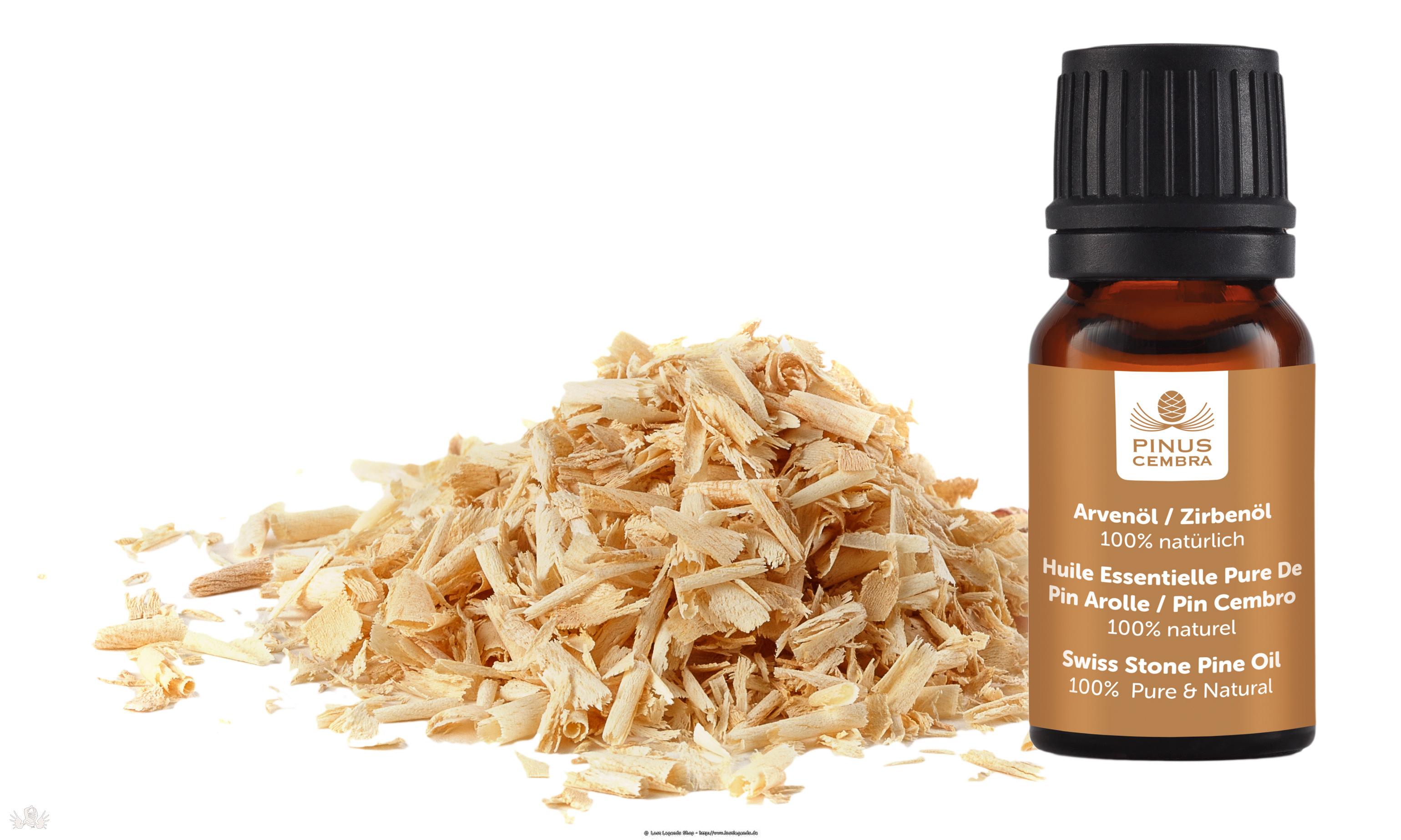 Pine & Globe Nachfüllung Zierbenholzspäne und 10ml Zirbenöl