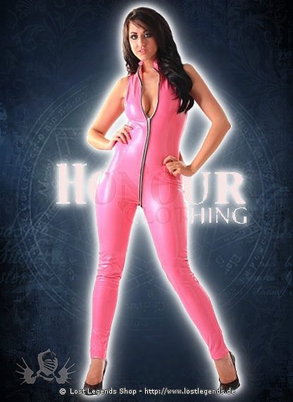 Pink Sexy Catsuit Lack