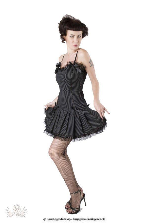 Pinstripe Beauty Gothic Kleid