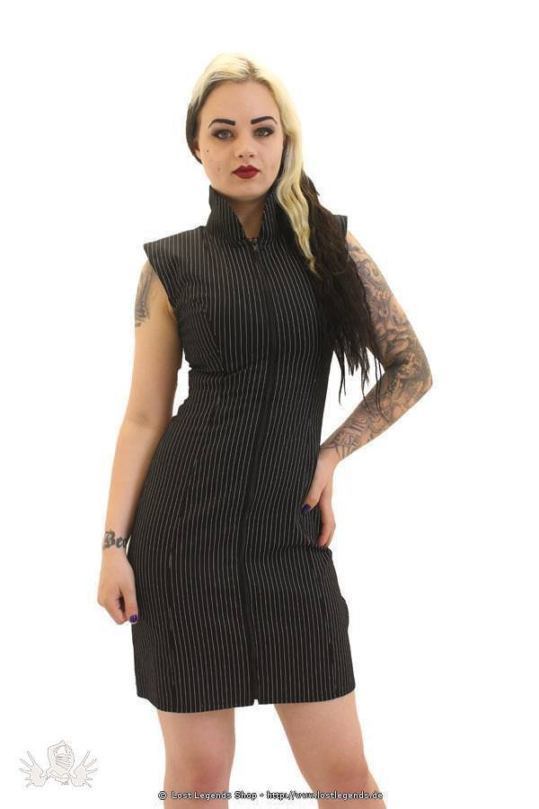 Pinstripe Crawford Military Kleid