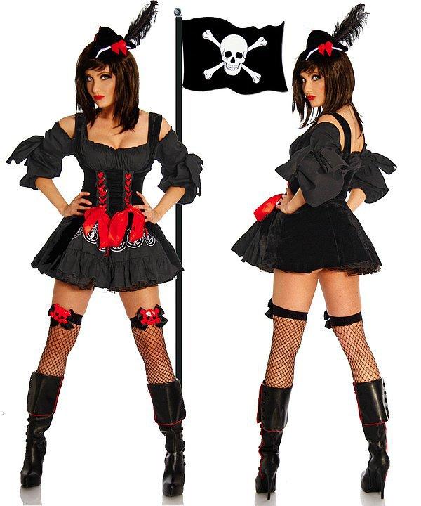 Piraten-Kostüm schwarz