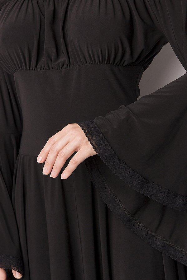 Piraten-Mittelalterkleid schwarz