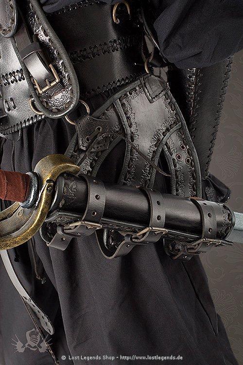 Piraten Schwertgehänge schwarz