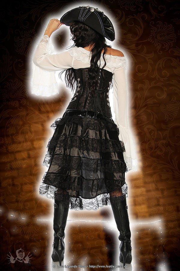 Piraten-Steampunk-Corsage schwarz