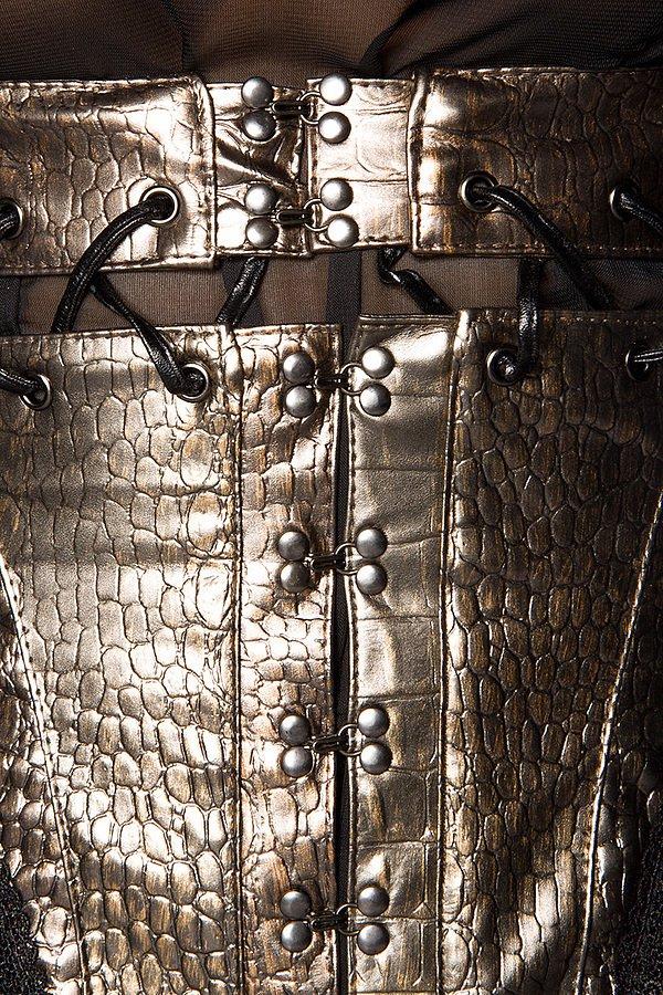 Piraten-Unterbrustcorsage mit Schößchen gold