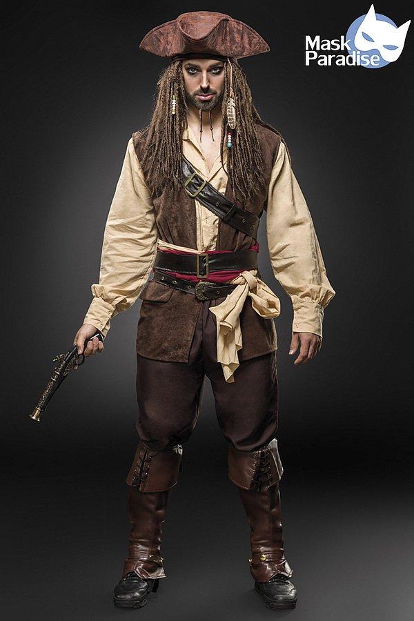 Piratenkostüm braun/beige