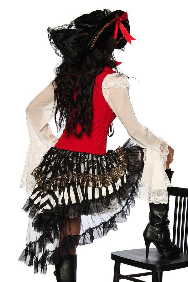 Piratenkostüm rot/schwarz