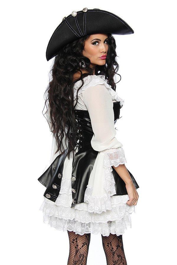 Piratenkostüm schwarz/weiß