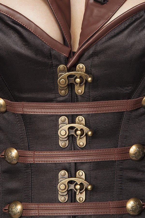 Piratenkostüm: Female Pirate braun/schwarz