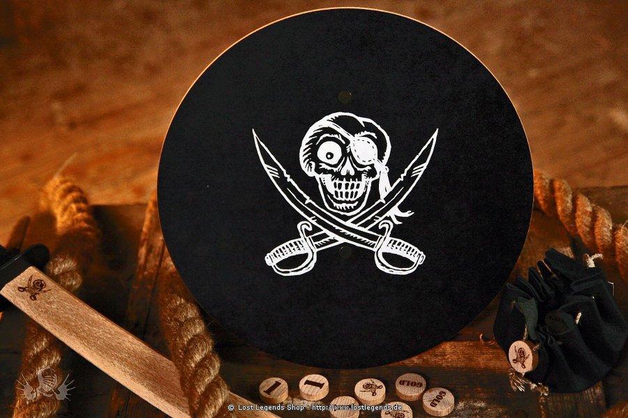 Piratenschild rund