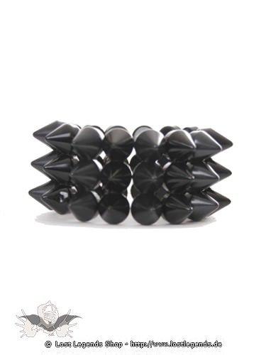 Plastikarmband mit schwarzen Spitzen