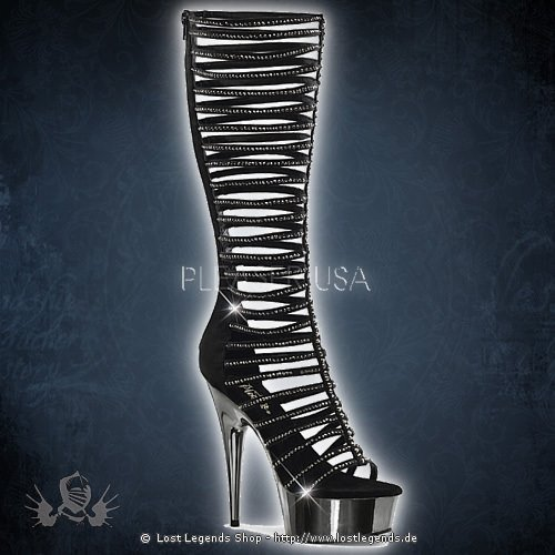 Pleaser DELIGHT-600-44 Black- Pewter Chrome