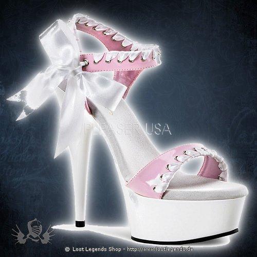 Pleaser DELIGHT-615 Baby Pink-Weiss