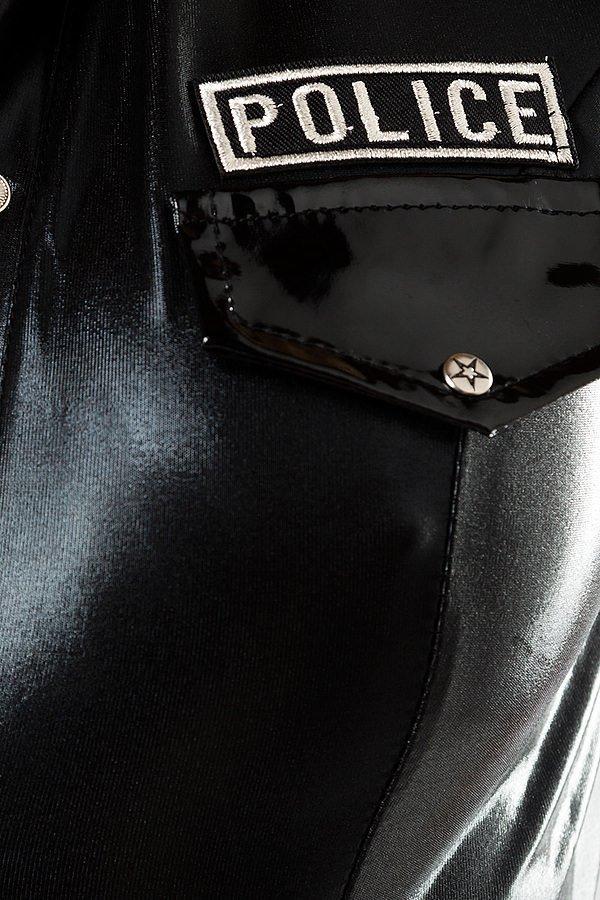 Polizei-Kostüm von Saresia roleplay schwarz