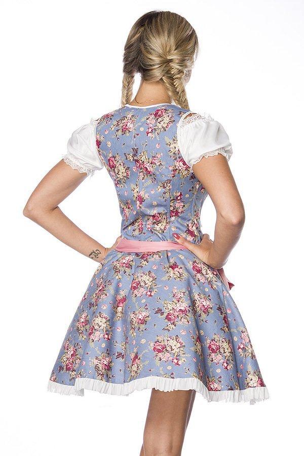 Premium Bluse blau/rosa/weiß