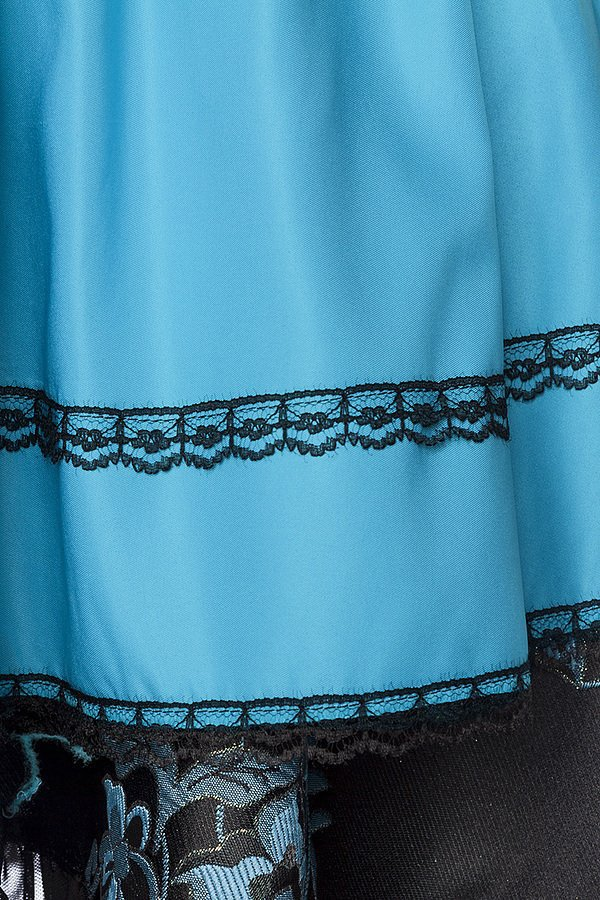 Premium Bluse schwarz/blau
