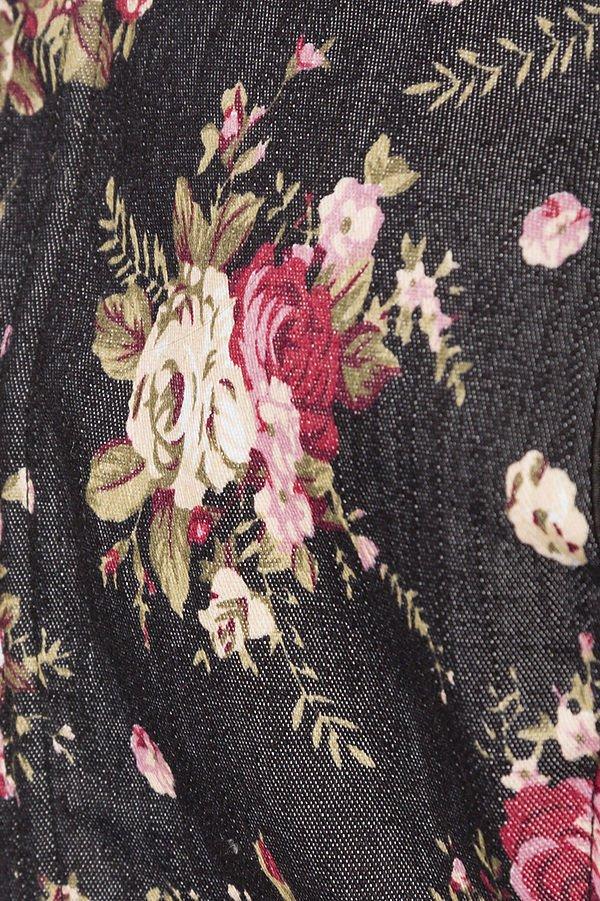 Premium Bluse schwarz/rosa