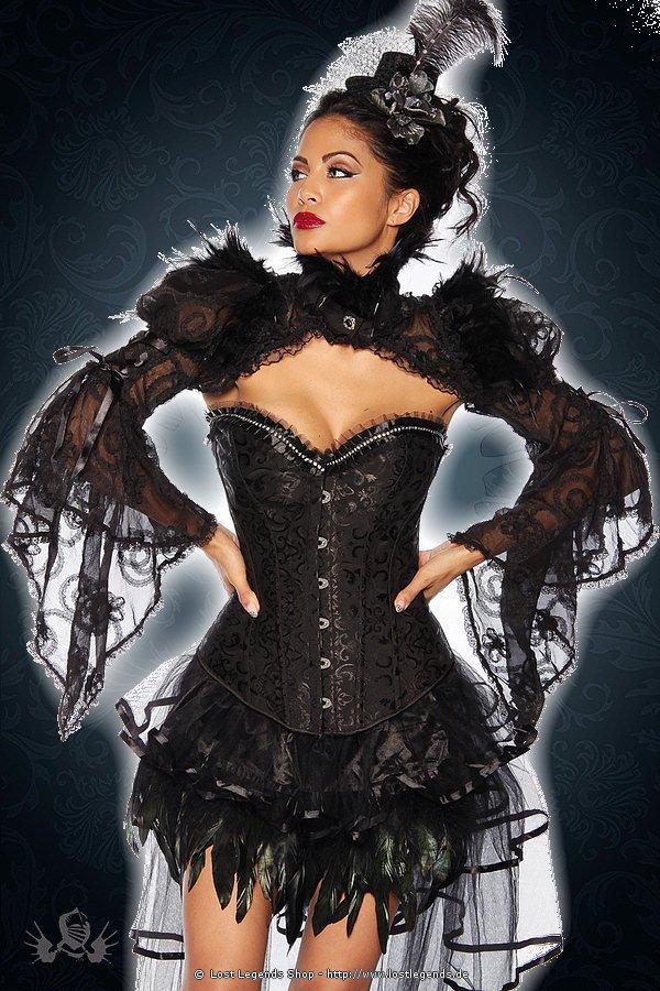 Gothic-Bolero aus Spitze schwarz