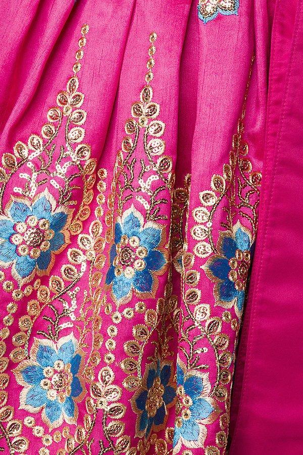 Premium Dirndl blau/pink