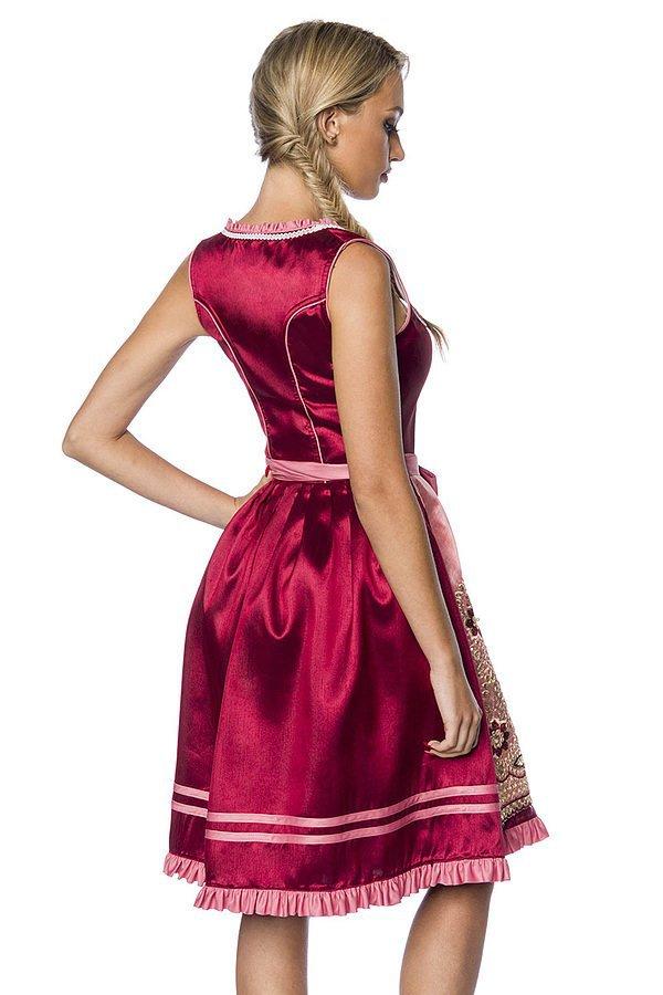 Premium Dirndl rosa/rot