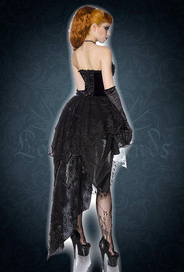 Premium Gothic-Kleid schwarz