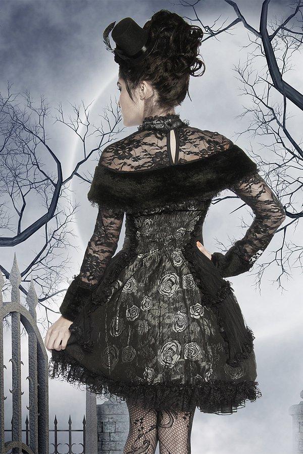 Premium-Vampirkostüm schwarz/grau