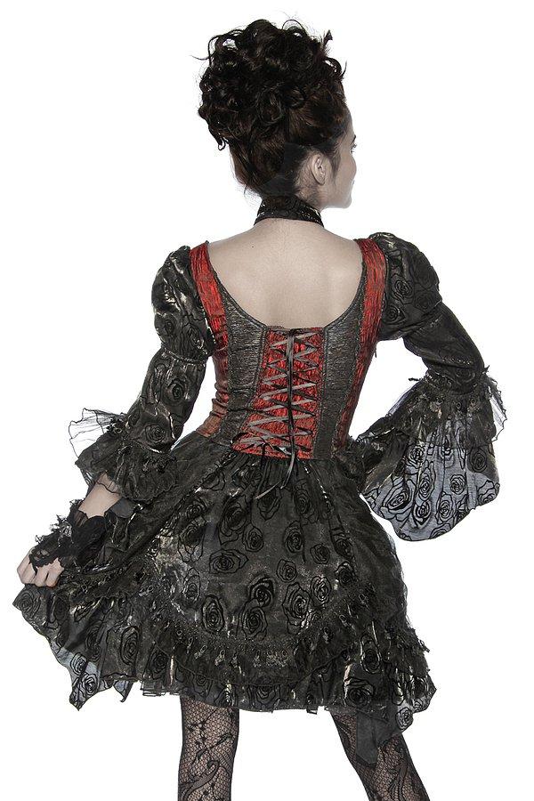 Premium-Vampirkostüm schwarz/rot