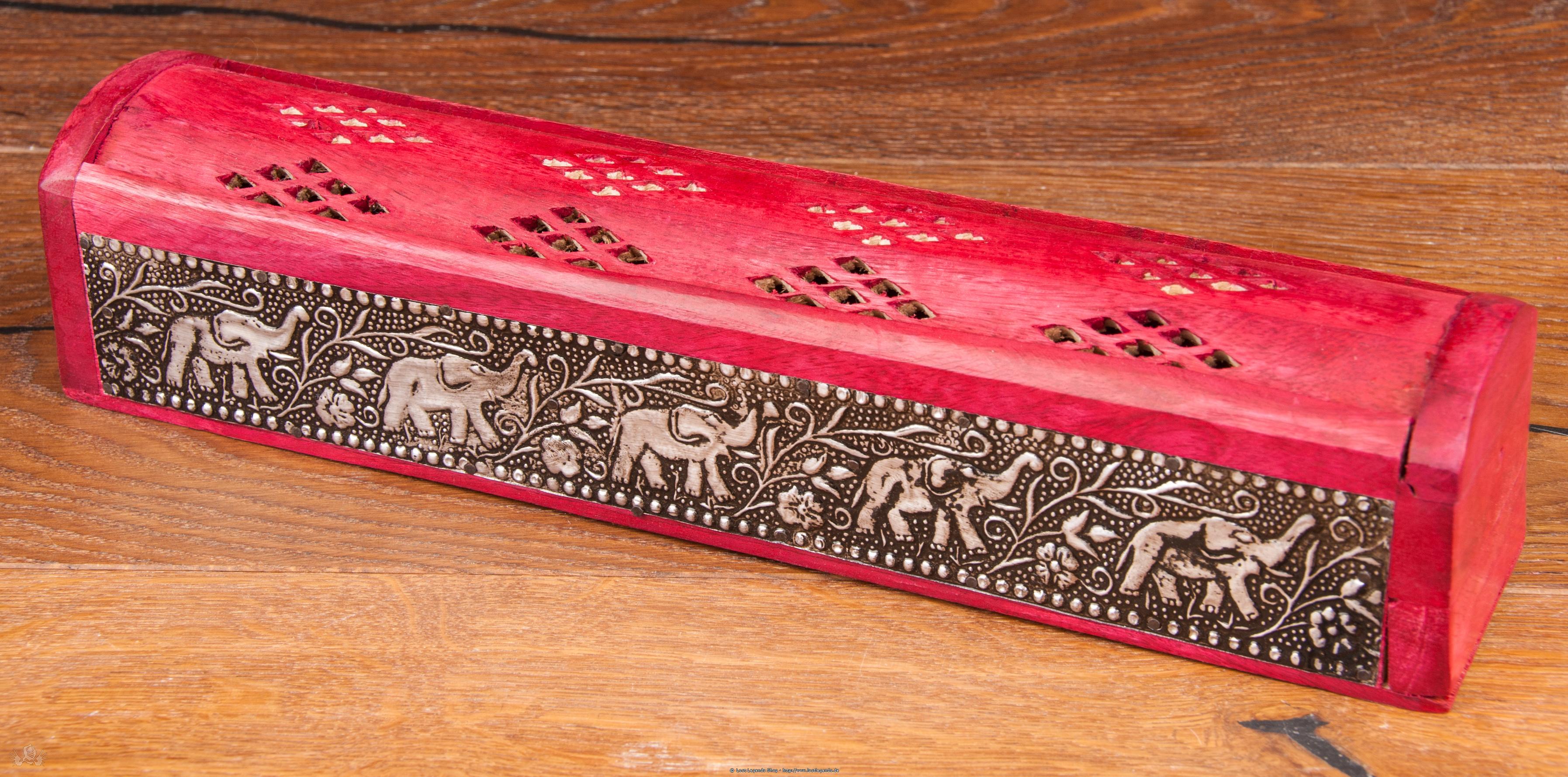 Räucherbox Elefant Mangoholz