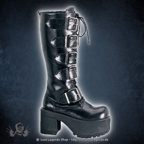 Ranger-318 Lack Demonia Gothic Stiefel