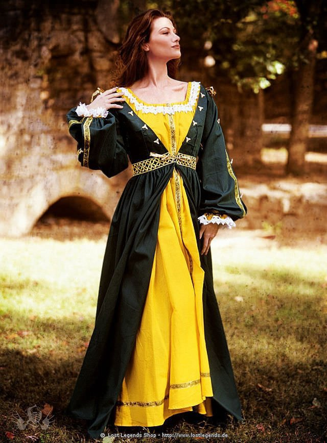 Grünes Renaissancekleid