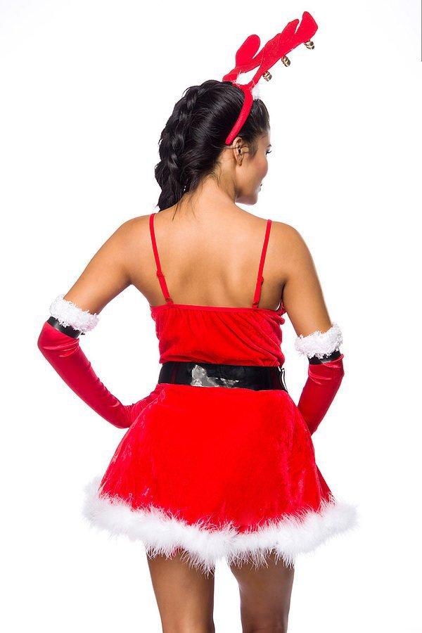 Rentier-Kostüm rot/weiß