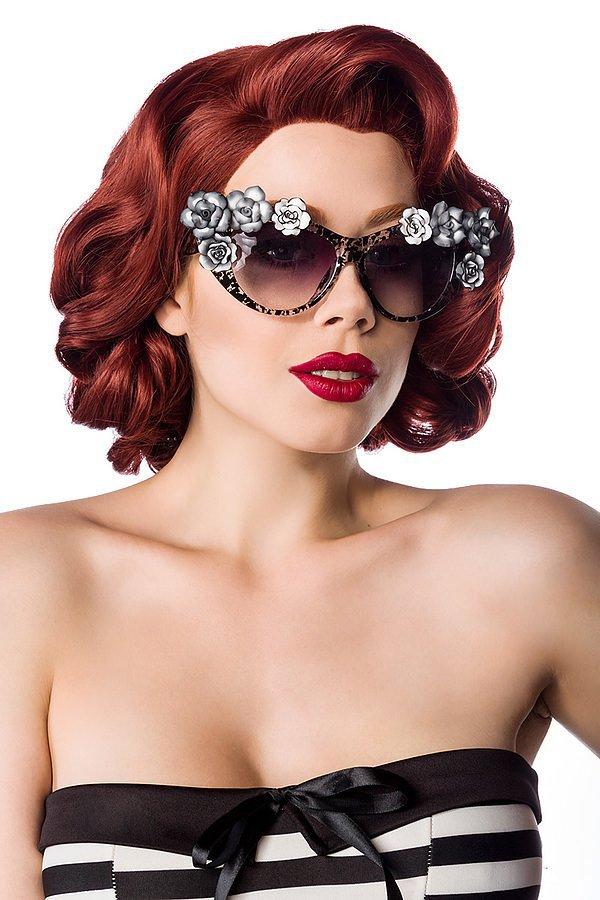 Retro Sonnenbrille schwarz/grau