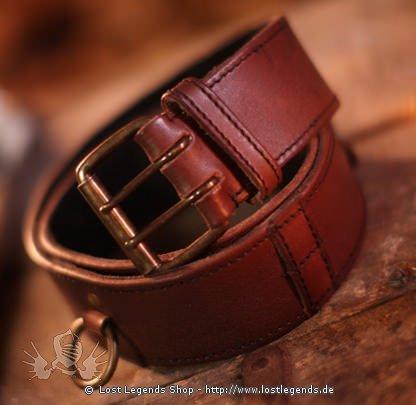Larp Ring Belt 120 cm, braun