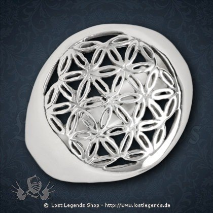 Ring Blume des Lebens Silber