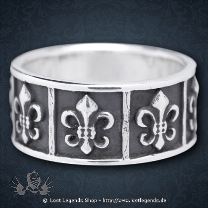 Ring Fleur de Lys Silber