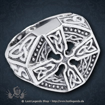 Ring Keltisches Kreuz Silber