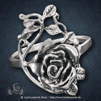 Ring mit Rosenranke Silber