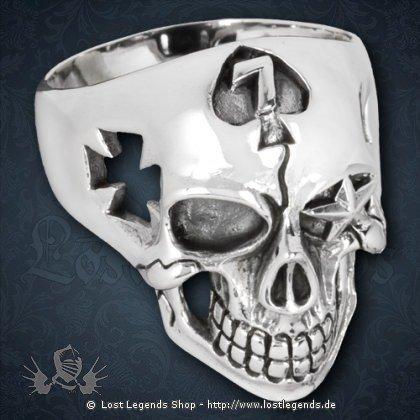 Ring Totenkopf Silber