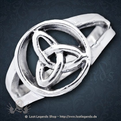 Ring Triquetra Silber
