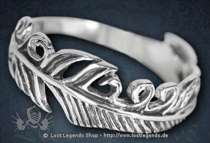Ring Vogelfeder Silber