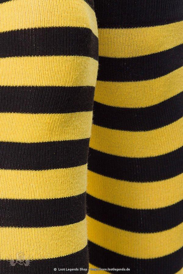 Ringel-Overknees schwarz/gelb