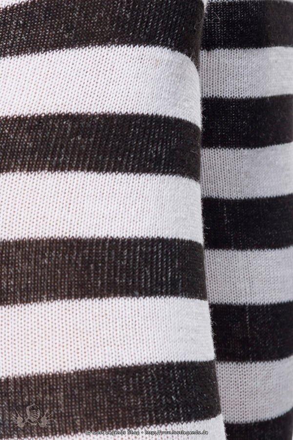 Ringel-Overknees schwarz/weiß