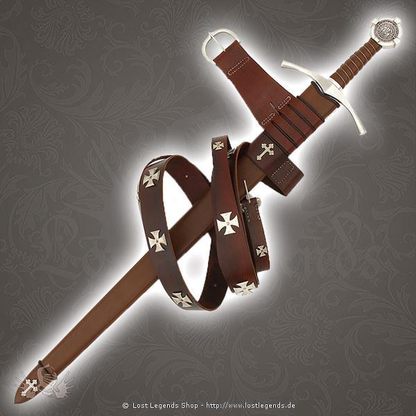 Ritterschlagschwert Accolade der Templer, mit Scheide