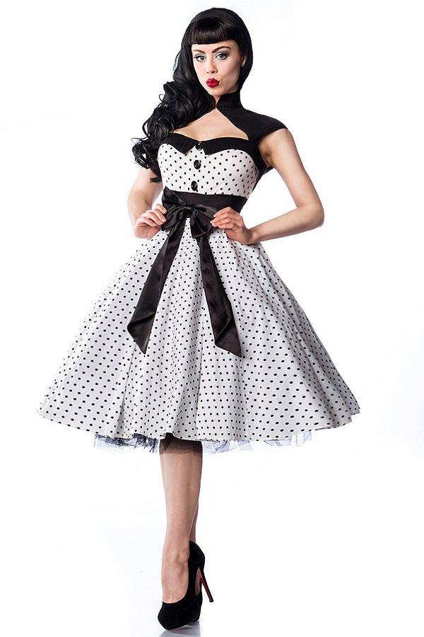 Rockabilly-Kleid weiß/schwarz